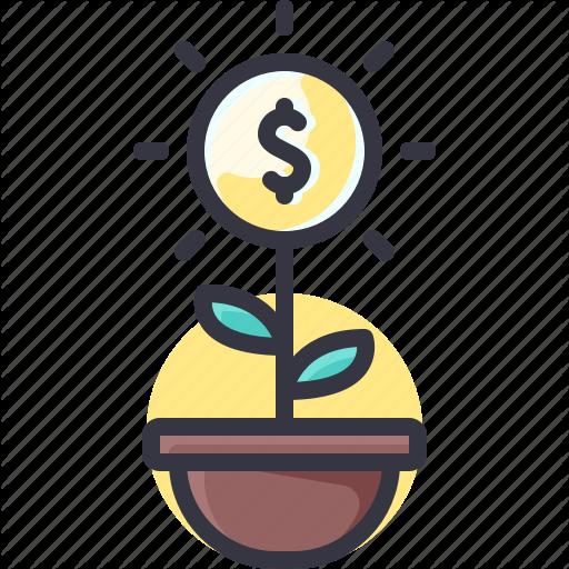 Economy, Growth, Money, Plant Icon