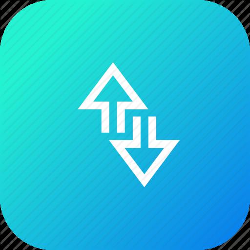 Arrow, Data, Down, Edge, Internet, Network, Up Icon