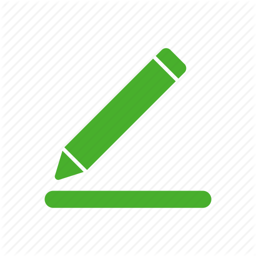 Compose, Draw, Edit, Green, Pencil Icon