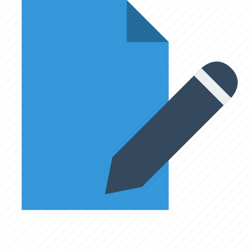 Document, Edit, Editor, File, Pen, Pencil Icon