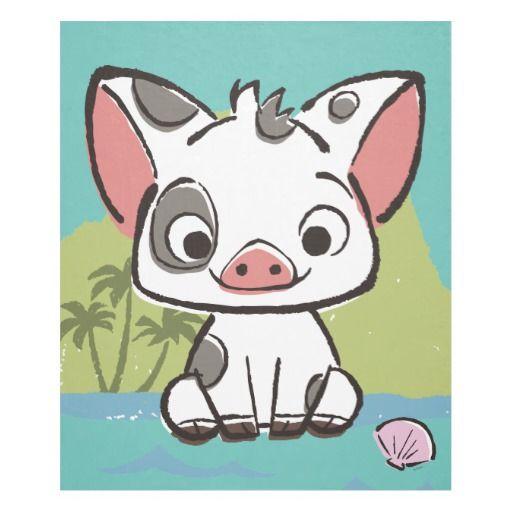 Moana Pua The Pot Bellied Pig Fleece Blanket
