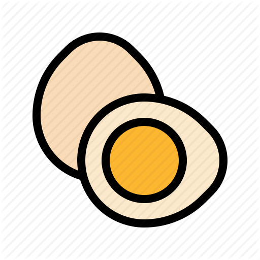Boiled, Egg Icon