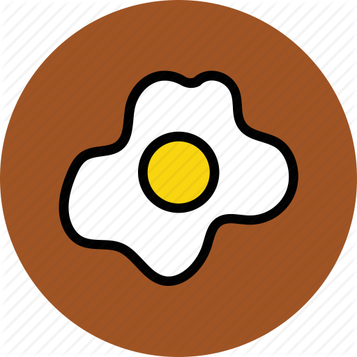 Breakfast, Egg, Food, Fried Egg, Fry Egg, Half Fried Egg Icon