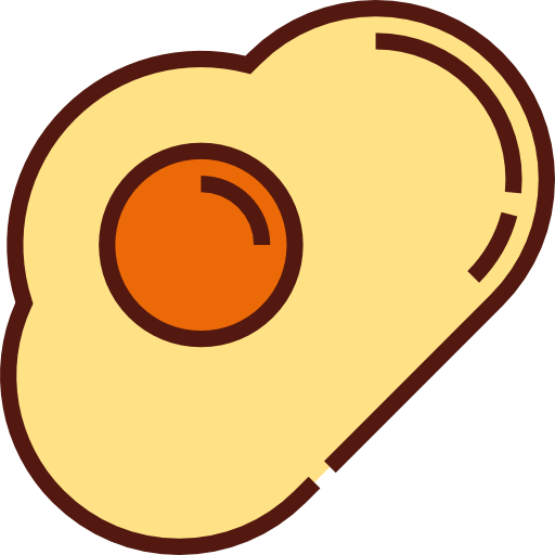 Food, Candy, Fried Egg Icon