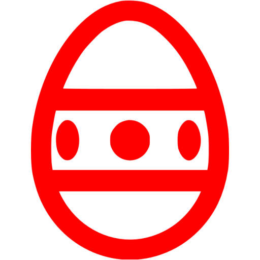 Red Easter Egg Icon