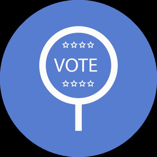 Election Vote Outline Icon Circle Blue Election Iconset Icon