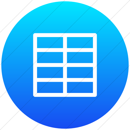 Flat Circle White On Ios Blue Gradient Layouts Outline