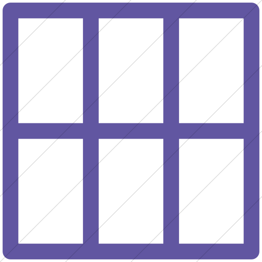 Simple Purple Layouts Outline Grid Icon