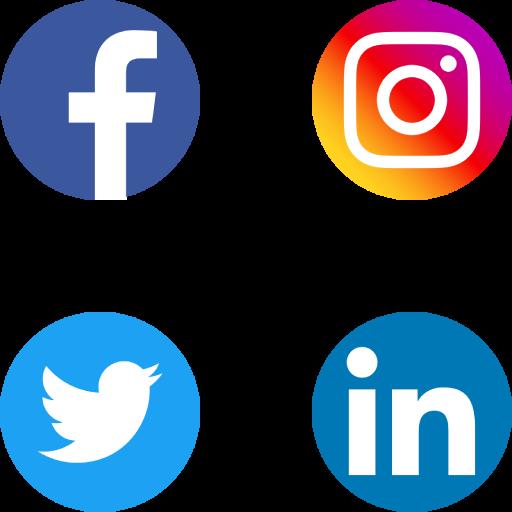 Social Media Icon Grid