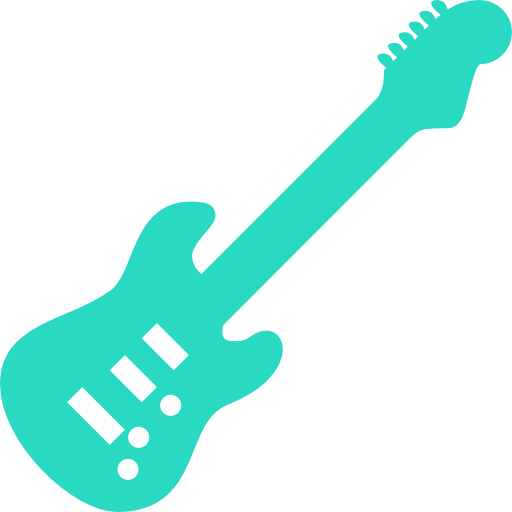 Electric, Guitar, Musical, Instrument Icon Free Of Musical