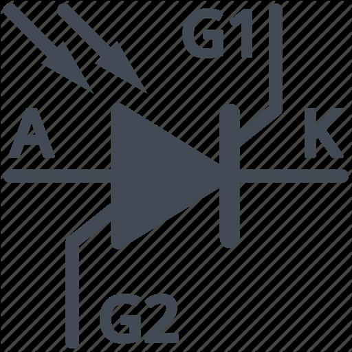 Circuit, Diagram, Electric, Electronic, Photo Thyristor, Thyristor