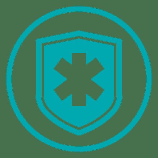 Medical Cross Shield Icon