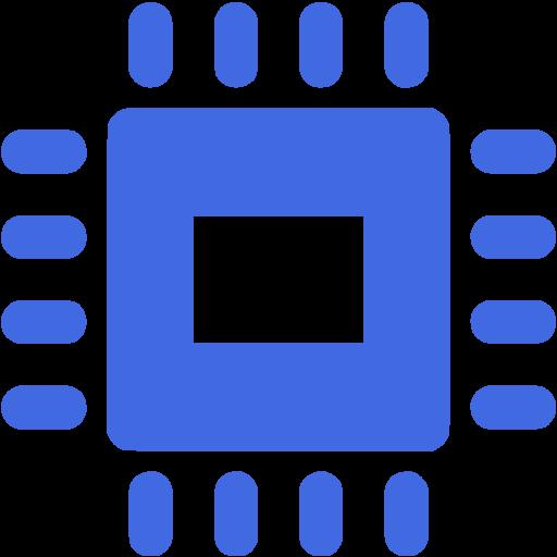 Royal Blue Electronics Icon