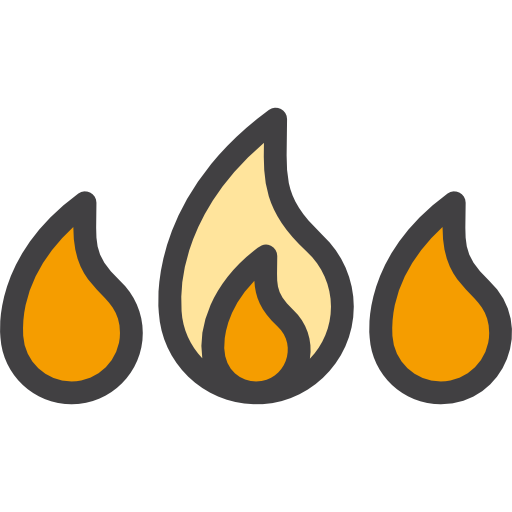 Fire, Danger, Element Icon