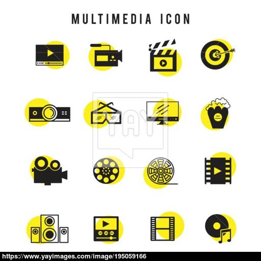 Web Element Icon Button Infographic Modern Vintage Vector Vector