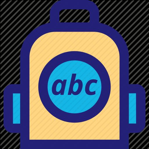 Abc, Back, Elementary, Pack Icon