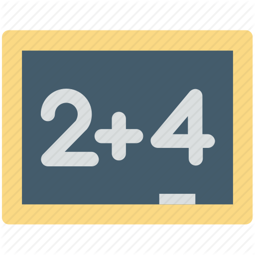 Basic Maths, Education, Elementary, Knowledge, Primary School Icon
