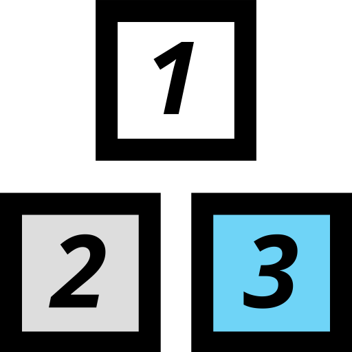 Blocks, School, Education, Elementary Icon