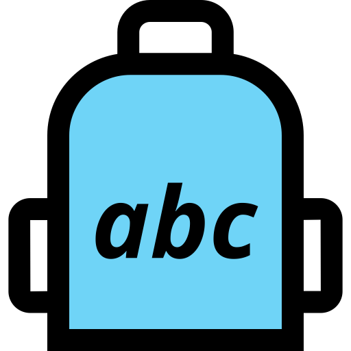 School, Abc, Education, Backpack, Elementary Icon