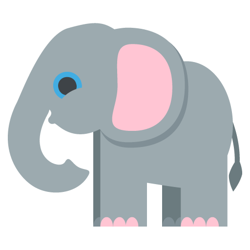 Elephant Emoji Vector Icon Free Download Vector Logos Art