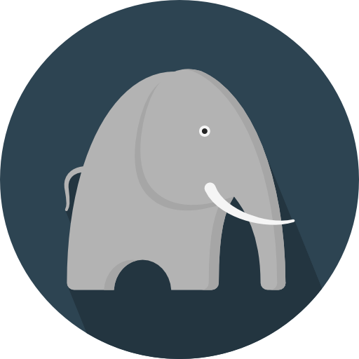 Elephant Icon Animals Pixel Perfect