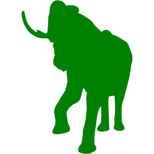 Green Elephant Icon