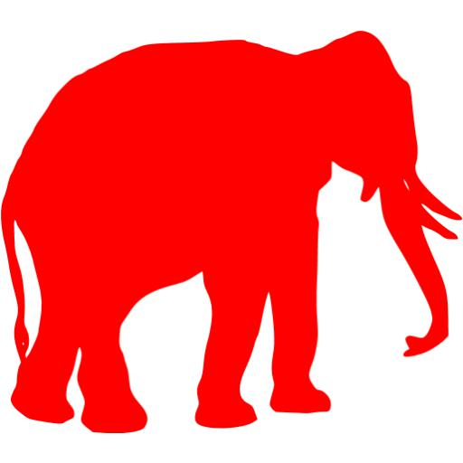 Red Elephant Icon