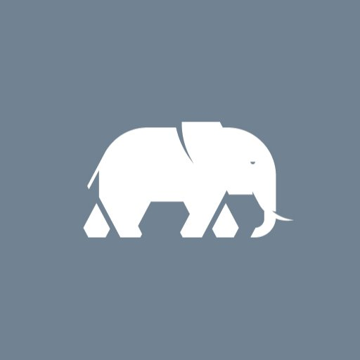 Cropped Elephant Icon