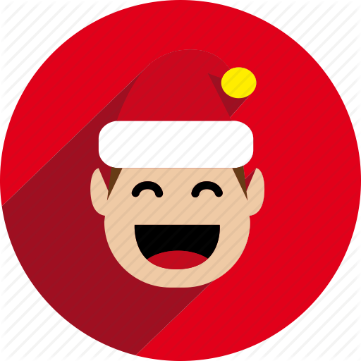 Christmas, Circle, Elf, Holiday, Santa, Santa Helper, Xmas Icon