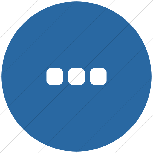 Flat Circle White On Blue Bootstrap Font Awesome