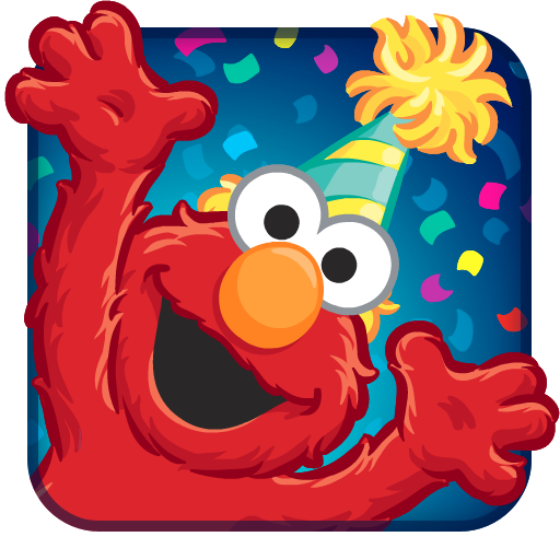 Elmo Birthday Bash App Icon Mobile Game Ui