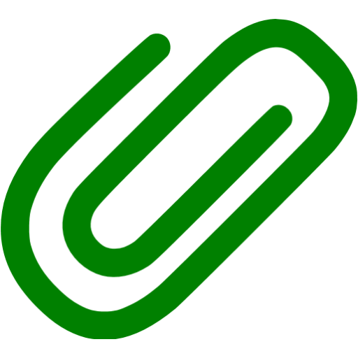 Green Attach Icon