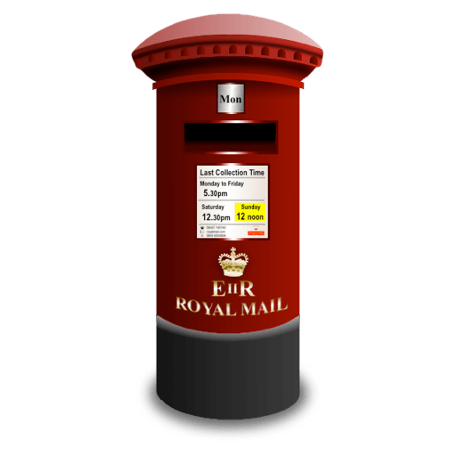 Royal Mail Post Box Icon Transparent Png