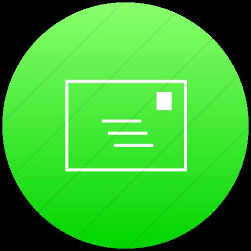 Flat Circle White On Ios Neon Green Gradient Classica