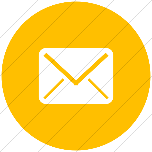 Flat Circle White On Yellow Broccolidry Email Icon