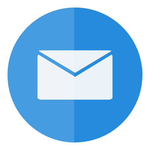Letter, Email, Circle, Mail, E Mail, Message, Send Icon