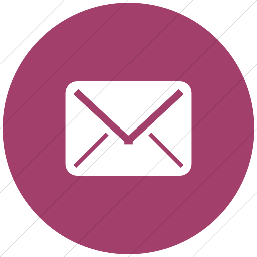 Flat Circle White On Pink Broccolidry Email Icon
