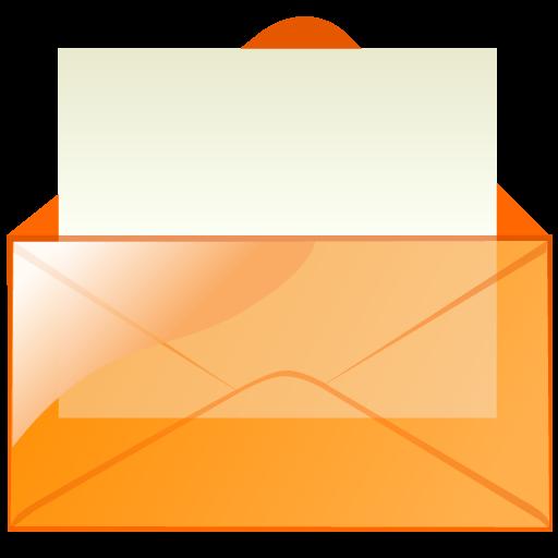 Email, Orange, Envelop, Letter, Message, Mail Icon