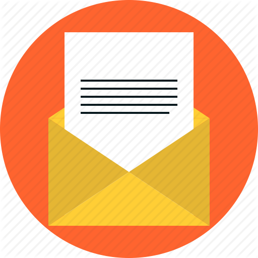 Pink Email Message Icon