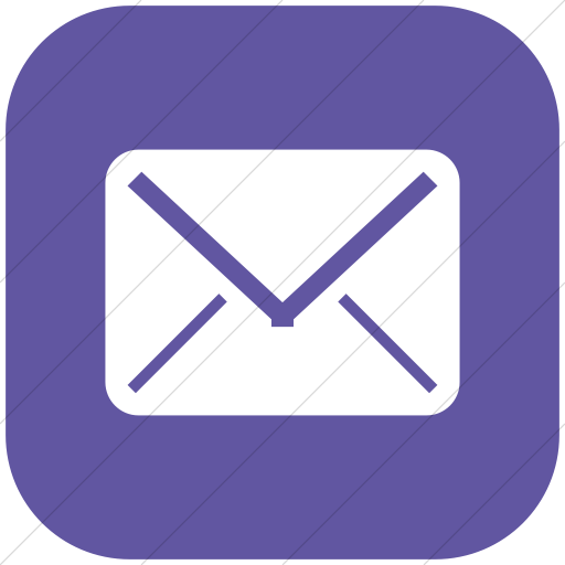 Flat Rounded Square White On Purple Broccolidry Email Icon