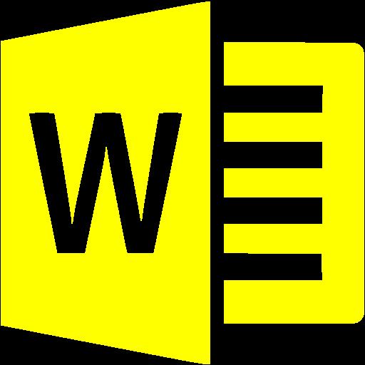 Yellow Microsoft Word Icon