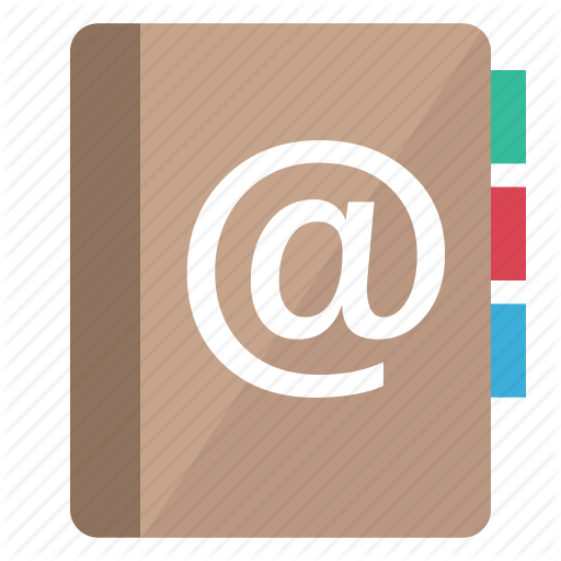 Address, Arobas, Book, Communication, Contacts, Email, List Icon