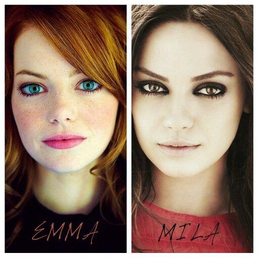 Emma Stone And Mila Kunis Look Alike Beautiful People
