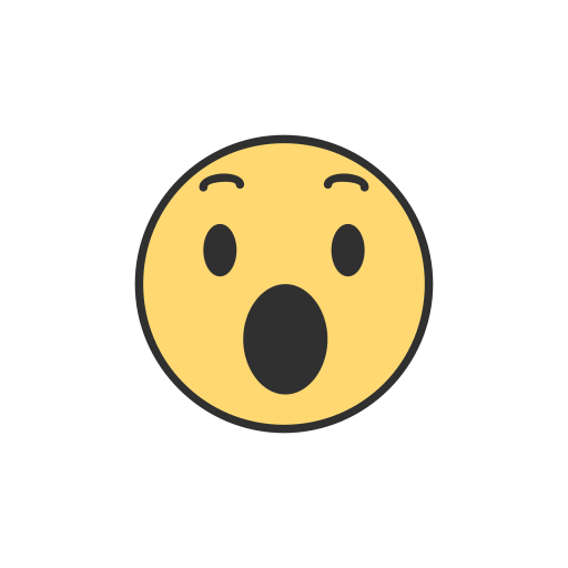 Facebook, Emoji, Reaction, Shocked Emoji Icon
