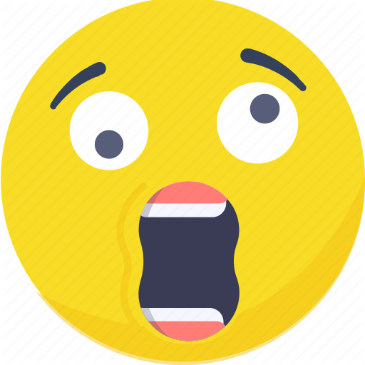 Emoji, Emoticon, Expressions, Shock, Shocked, Smiley Icon Icon
