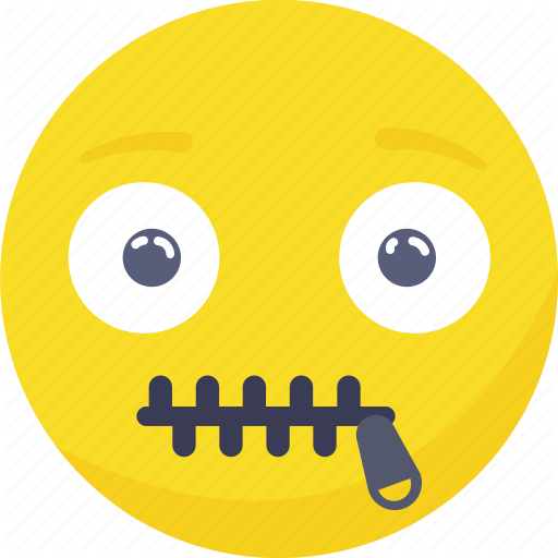 Emoji, Emoticon, Expressions, Speachless, Zip, Zipper Icon