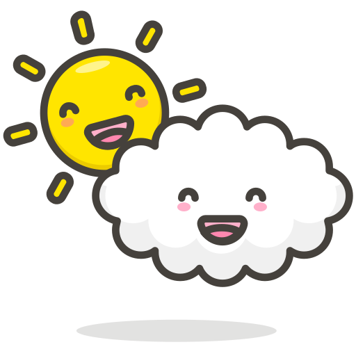 Cloudy, Cloud, Sun, Funny Icon Free Of Another Emoji Icon Set
