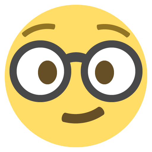 Nerd Face Emoji Emoticon Vector Icon Free Download Vector Logos