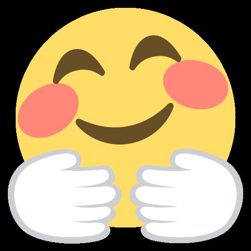 Hugging Face Emoji Emoticon Vector Icon Free Download Vector