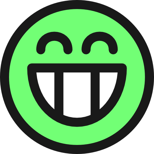 Flat Grin Smiley Emotion Icon Emoticon Clipart
